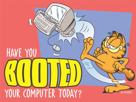 booted garfield