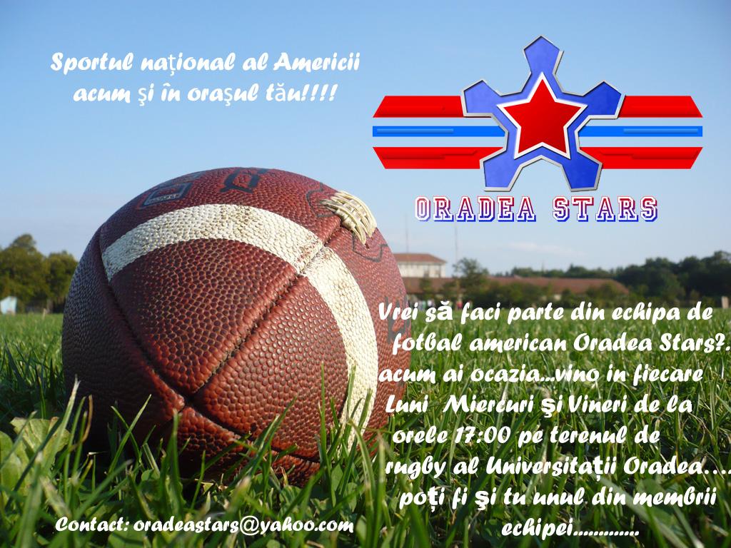fotbal, american, oradea, stars